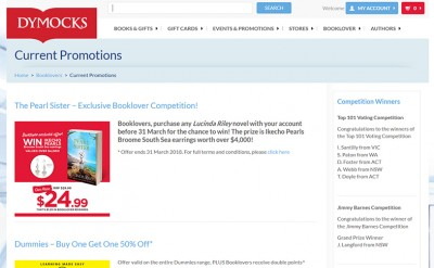 Dymocks Promotions Website
